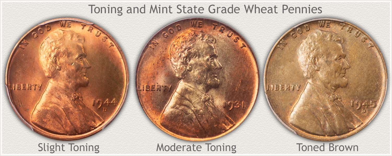 Toning of Wheat Cents