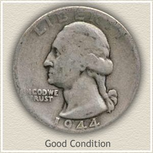 1944 Quarter Good Condition