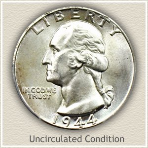 1944 Quarter Uncirculated Condition