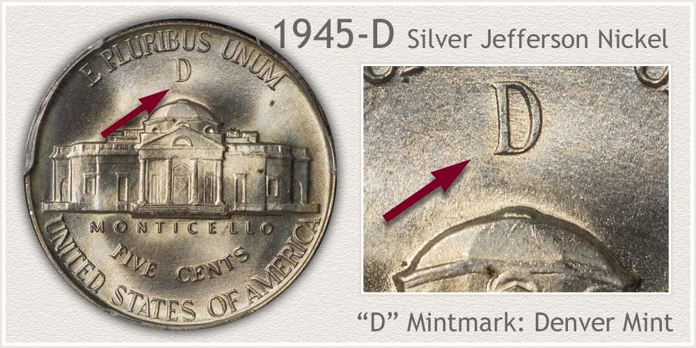 1945-D Silver Jefferson Nickel