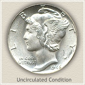 1945 Dime Uncirculated Condition