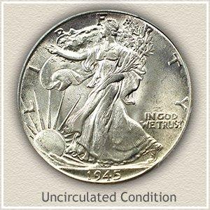 1945 Half Dollar Uncirculated Condition