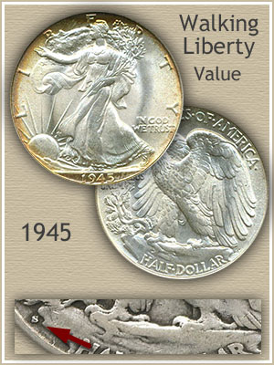 Uncirculated 1945 Half Dollar Value
