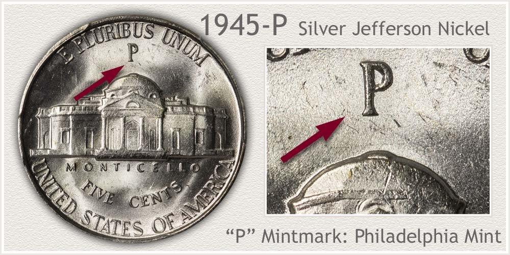 1945-P Silver Jefferson Nickel