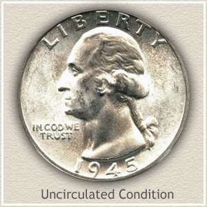 1945 Quarter Uncirculated Condition