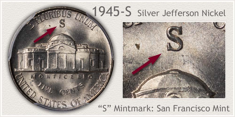 1945-S Silver Jefferson Nickel