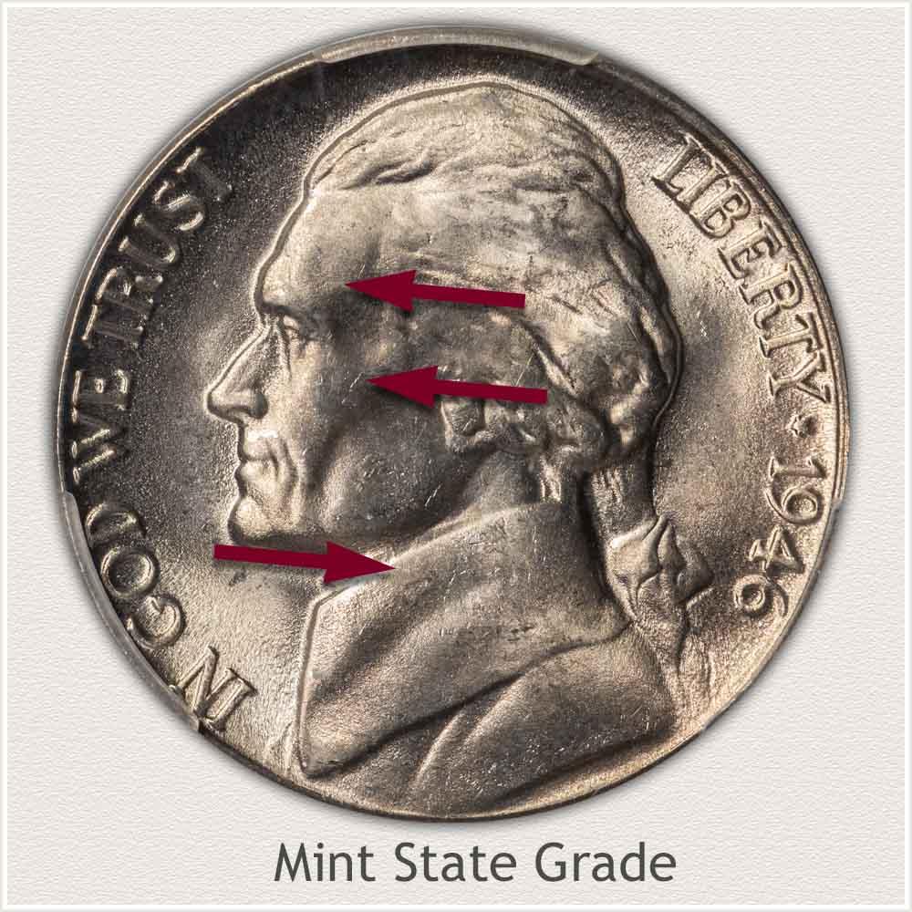 1946 Jefferson Nickel Mint State Grade
