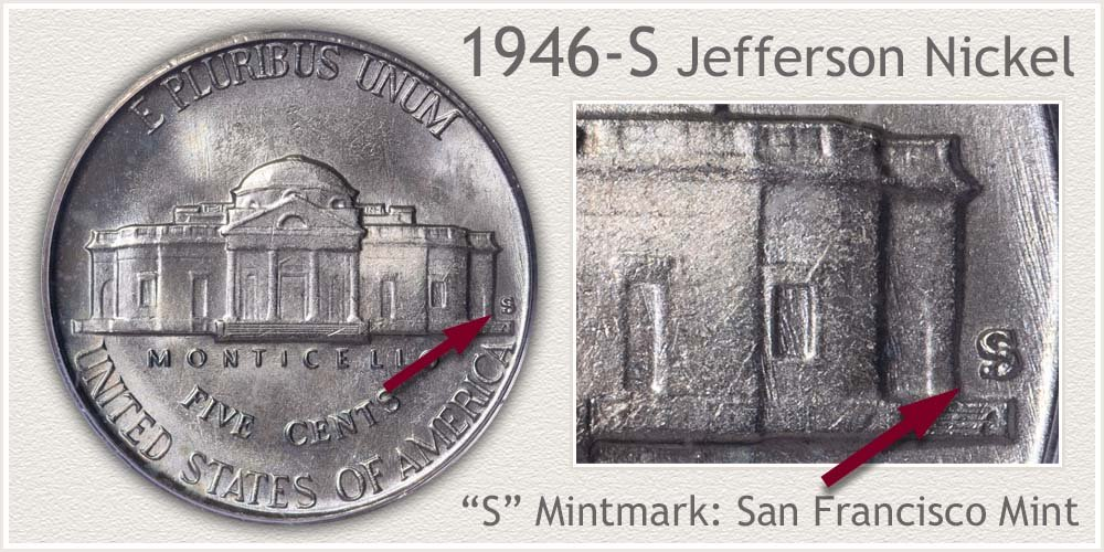 1946-S Jefferson Nickel