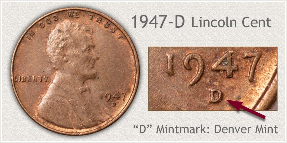 1947-D Lincoln Penny