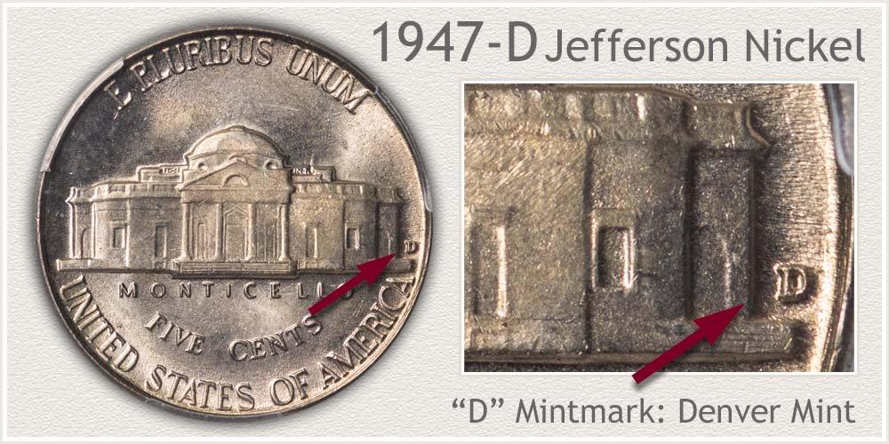 1947-D Jefferson Nickel