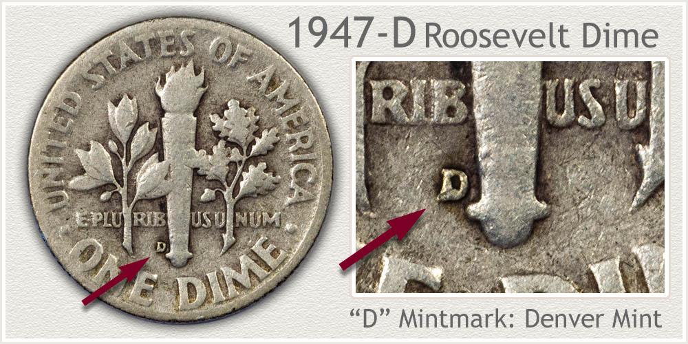 1947-D Roosevelt Dime