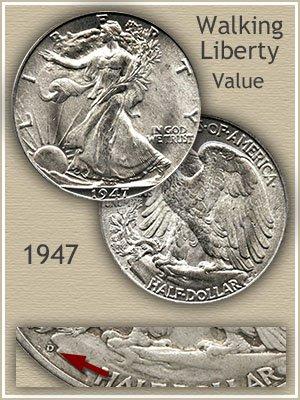 Uncirculated 1947 Half Dollar Value