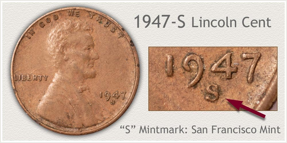 1947-S Lincoln Penny