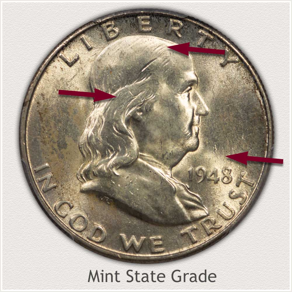 1948 Franklin Half Dollar Mint State Grade