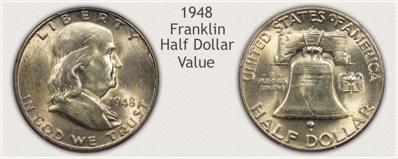 1948 Half Dollar - Franklin Half Series - Obverse and Reverse View