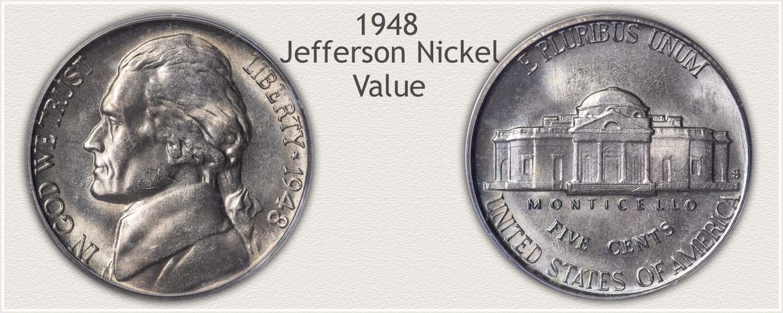 1948 Jefferson Nickel