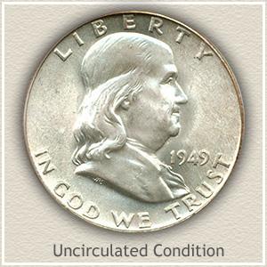 1949 Franklin Half Dollar Uncirculated Condition