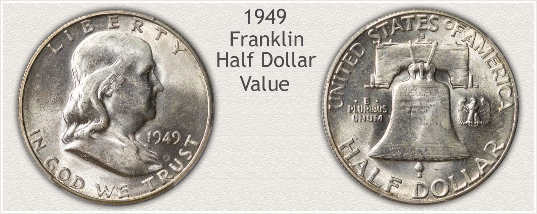 1949 Half Dollar - Franklin Half Series - Obverse and Reverse View