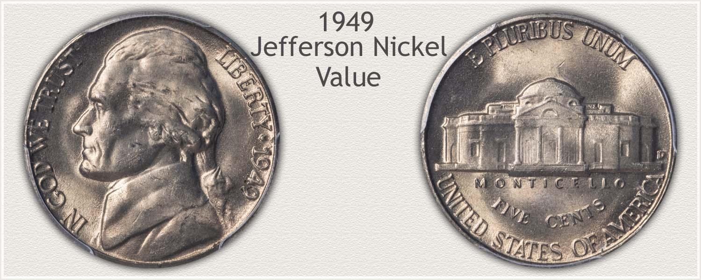 1949 Jefferson Nickel