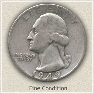 1949 Quarter Fine Condition