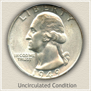 1949 Quarter Uncirculated Condition