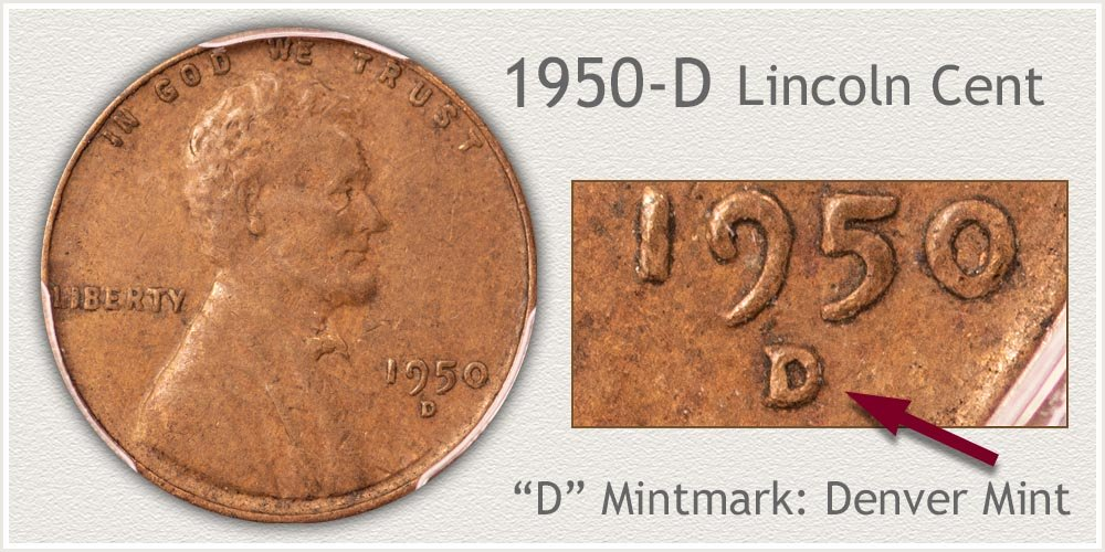 1950-D Lincoln Penny