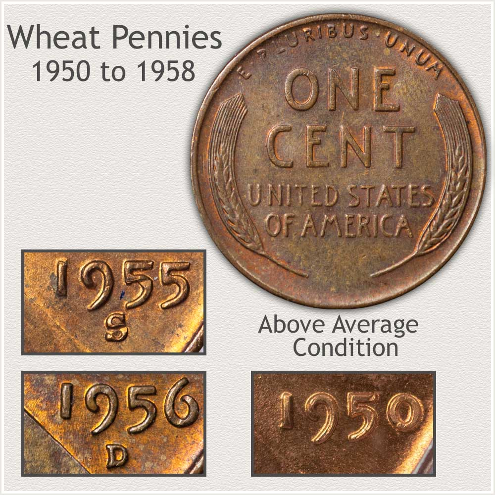 Important Features of the 1950's Decade Wheat Pennies