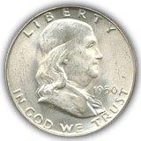 1950 Franklin Half Dollar Uncirculated Condition