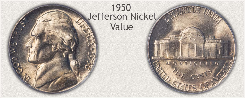 1950 Jefferson Nickel