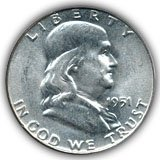 1951 Franklin Half Dollar Uncirculated Condition