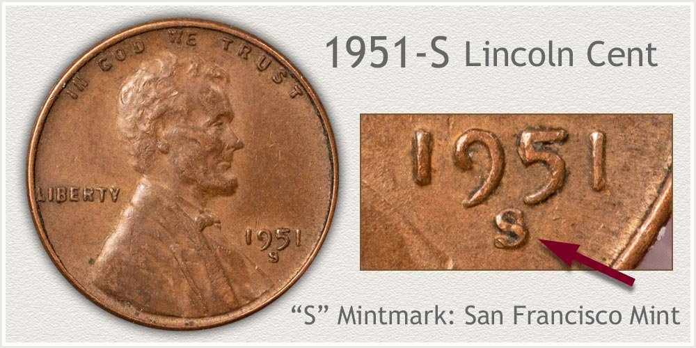 1951-S Lincoln Penny