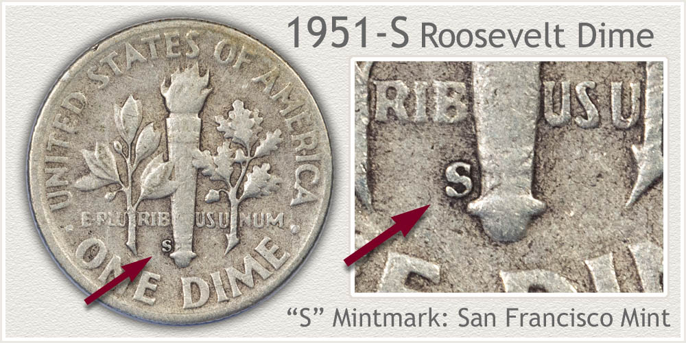 1951-S Roosevelt Dime