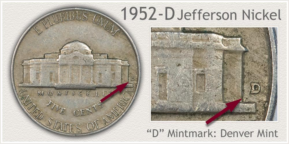 1952-D Jefferson Nickel