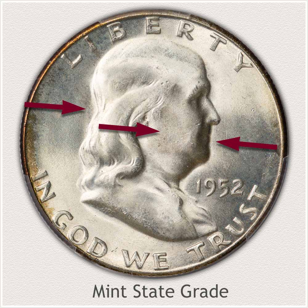 1952 Franklin Half Dollar Mint State Grade