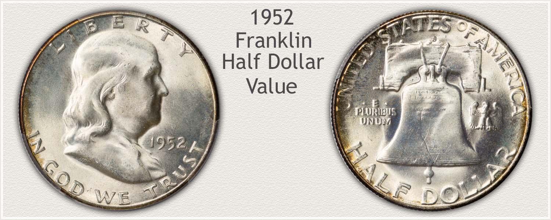 1952 Half Dollar - Franklin Half Series - Obverse and Reverse View
