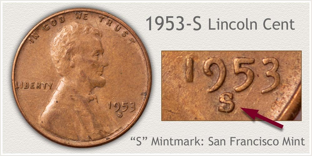 1953-S Lincoln Penny