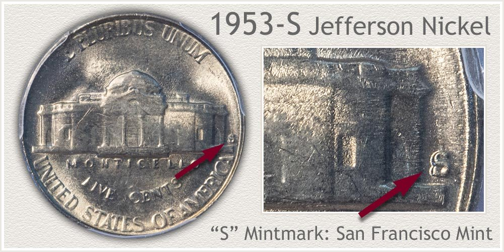 1953-S Jefferson Nickel