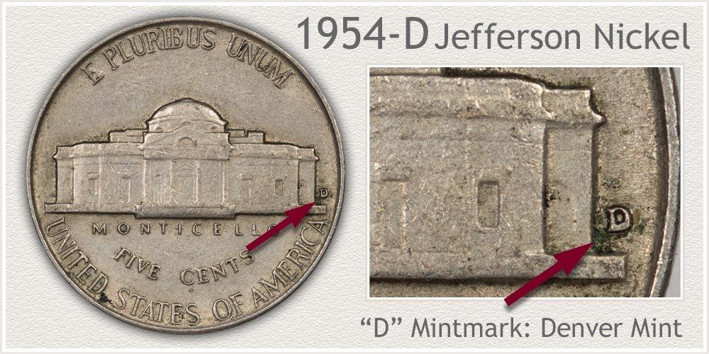 1954-D Jefferson Nickel