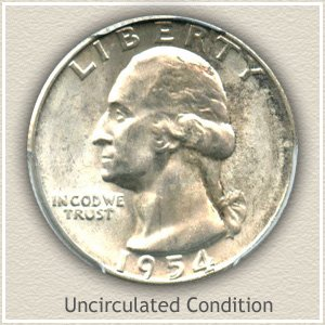 1954 Quarter Uncirculated Condition