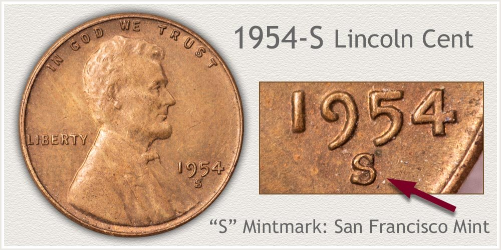 1954-S Lincoln Penny