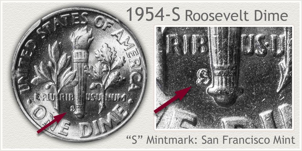 1954-S Roosevelt Dime