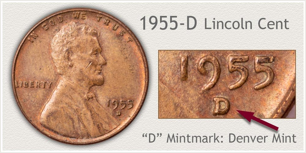 1955-D Lincoln Penny