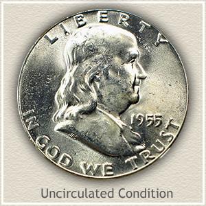 1955 Franklin Half Dollar Uncirculated Condition