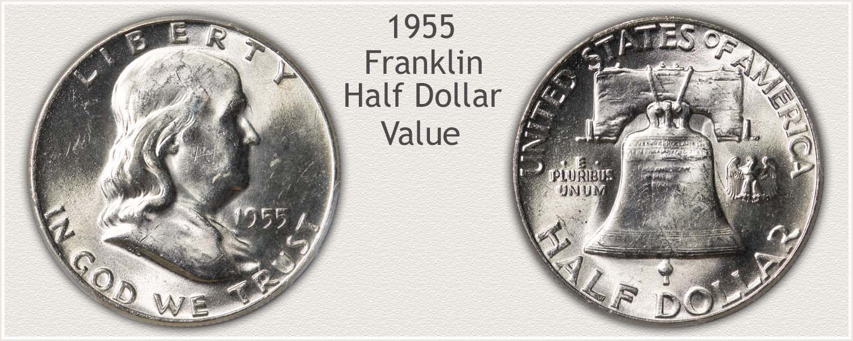 1955 Half Dollar - Franklin Half Series - Obverse and Reverse View