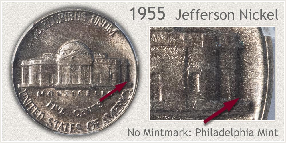 1955 Jefferson Nickel
