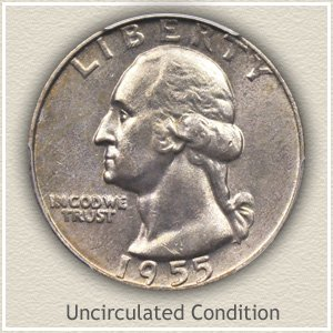 1955 Quarter Uncirculated Condition