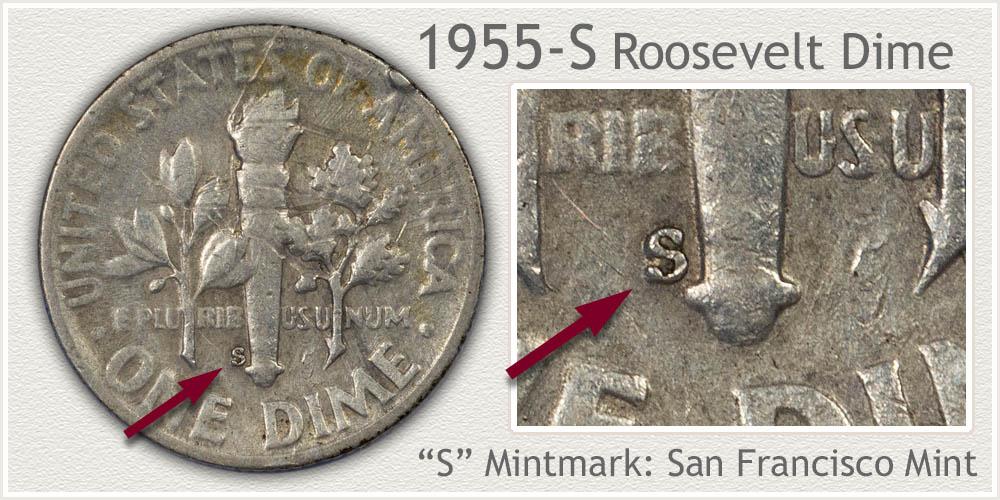 1955-S Roosevelt Dime