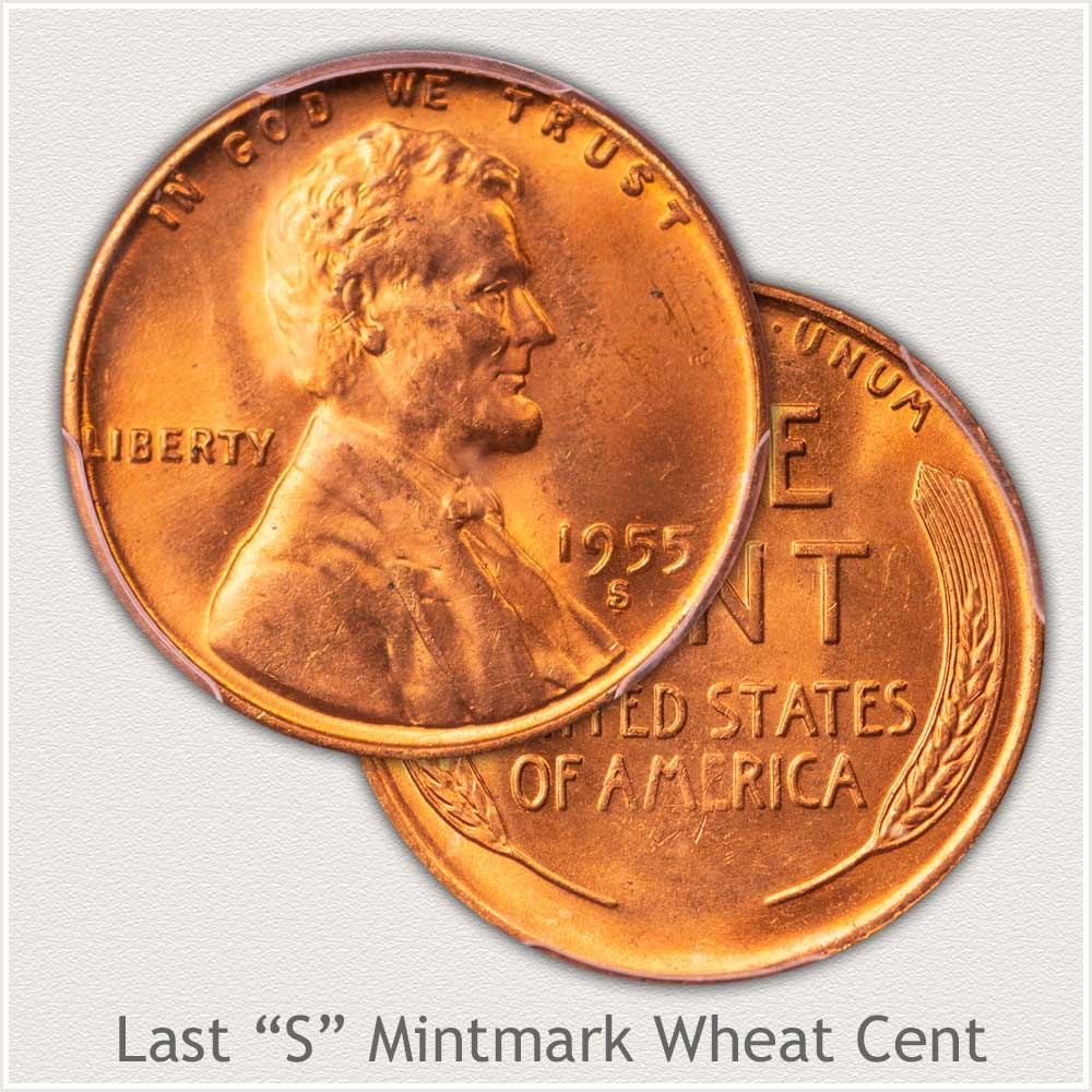 High Grade 1955-S Lincoln Wheat Penny