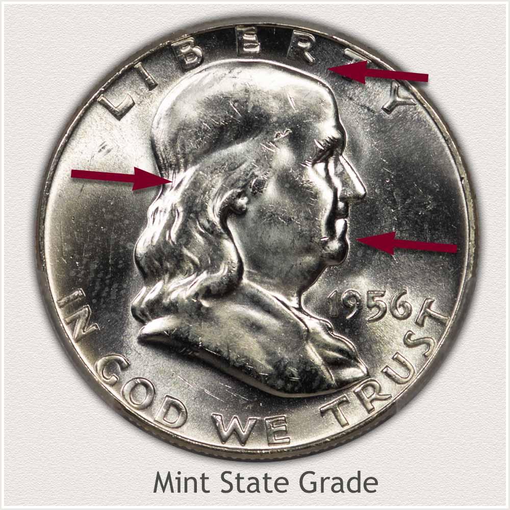 1956 Franklin Half Dollar Mint State Grade