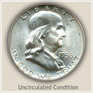 1956 Franklin Half Dollar Uncirculated Condition